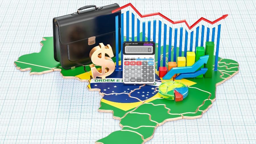 Agência espera que o PIB do Brasil encolha 6,2% neste ano, contra previsão anterior de queda de 5,2% - Getty Images/iStockphoto