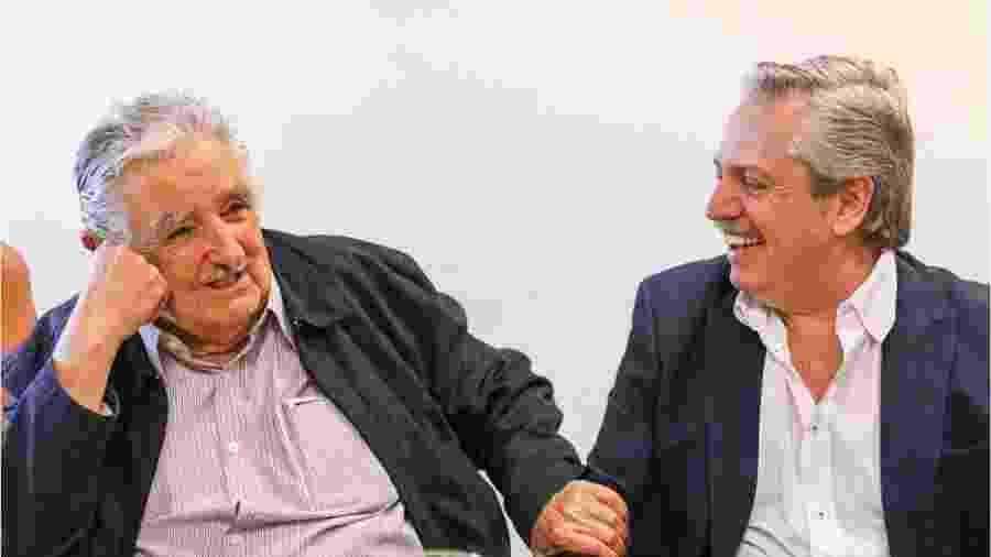 Mujica e Fernández, dois dos presentes na reunião deste fim de semana - AFP