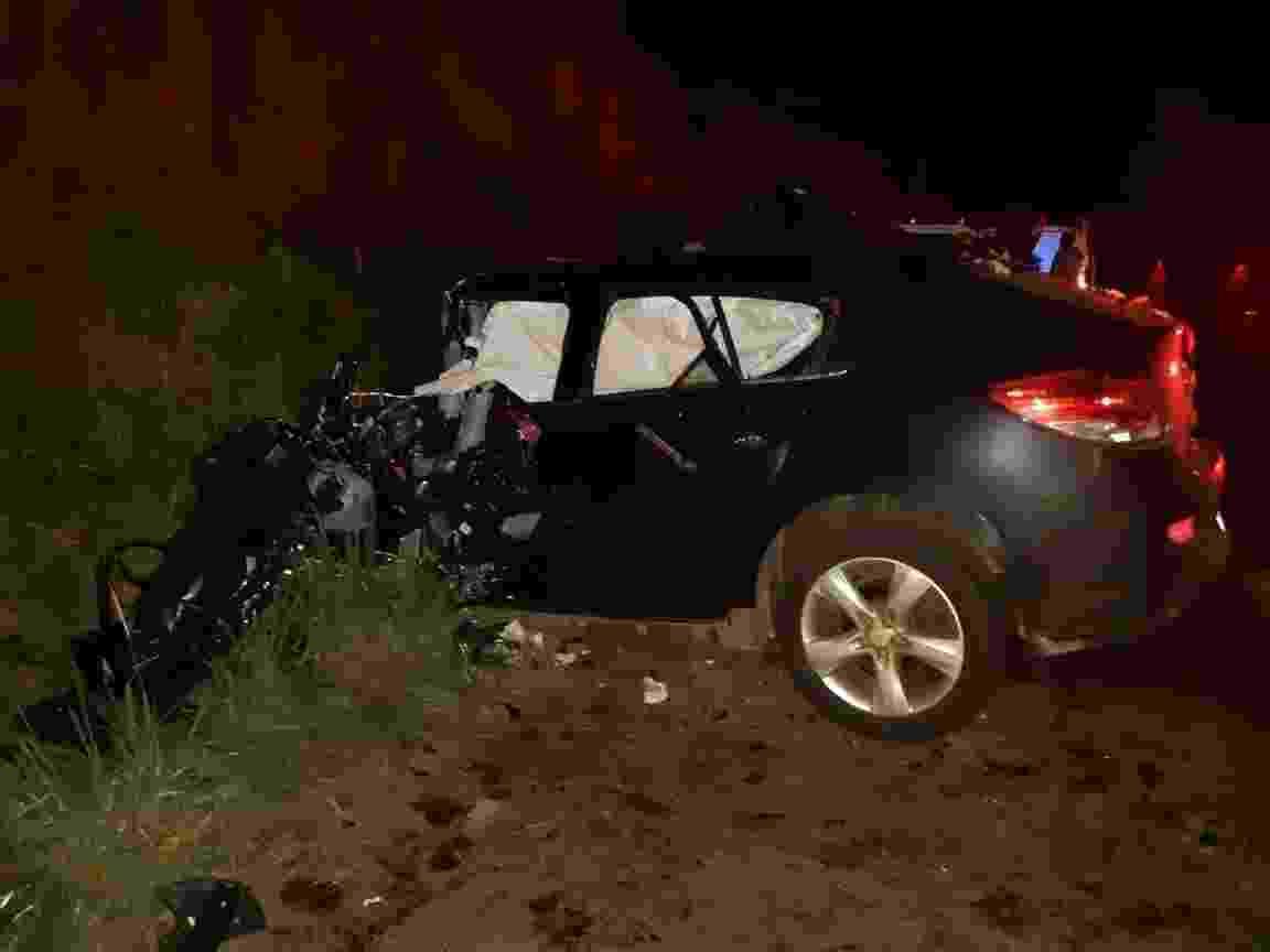 Acidente entre dois veículos na BR-472, em Boa Vista de Buricá, a 468 km de Porto Alegre, que matou 4 pessoas - PRF/Divulgação