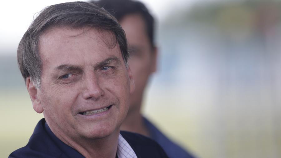 O presidente Jair Bolsonaro no Palácio da Alvorada, em Brasília - Lucio Tavora - 27.dez.19/Xinhua