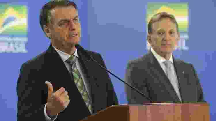 Bolsonaro anuncia novo presidente dos Correios, general Floriano Peixoto, em junho de 2019: antecessor teria agido 'como sindicalista', segundo o presidente - Antonio Cruz/Ag. Brasil - Antonio Cruz/Ag. Brasil