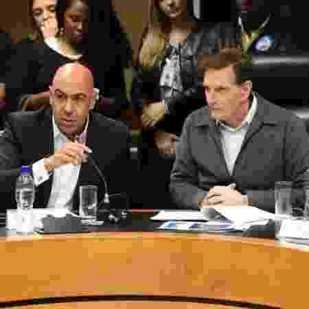 O presidente da RioTur Marcelo Alves ao lado do prefeito do Rio Marcelo Crivella (Republicanos) - Reprodução/Facebook
