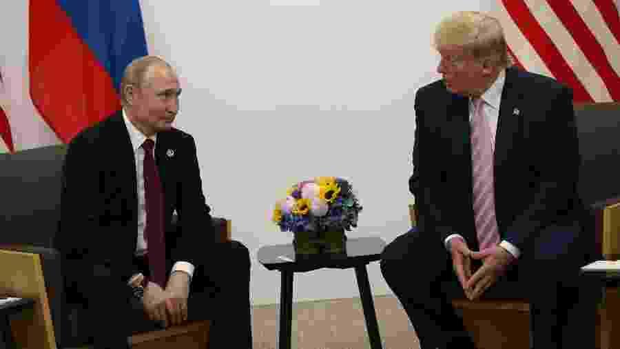Vladimir Putin e Donald Trump em junho de 2019 - Mikhail Svetlov/Getty Images