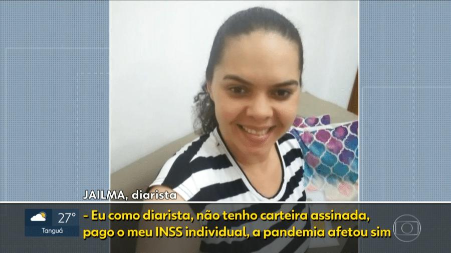 Jailma Alves dos Santos Barreto, diarista, 33, é formada em História pela Universidade do Estado do Rio de Janeiro (UERJ) - Reprodução/TV Globo