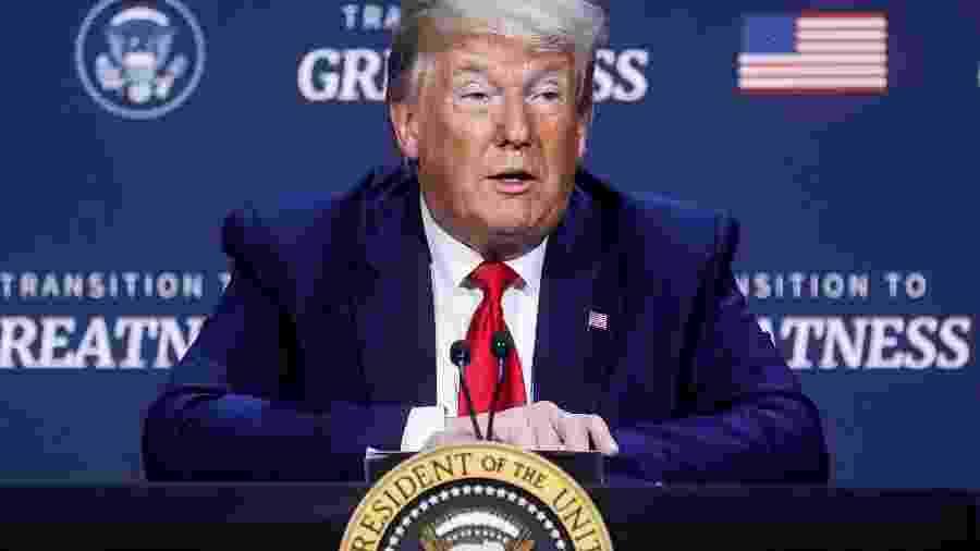Presidente dos EUA, Donald Trump, em Dallas -