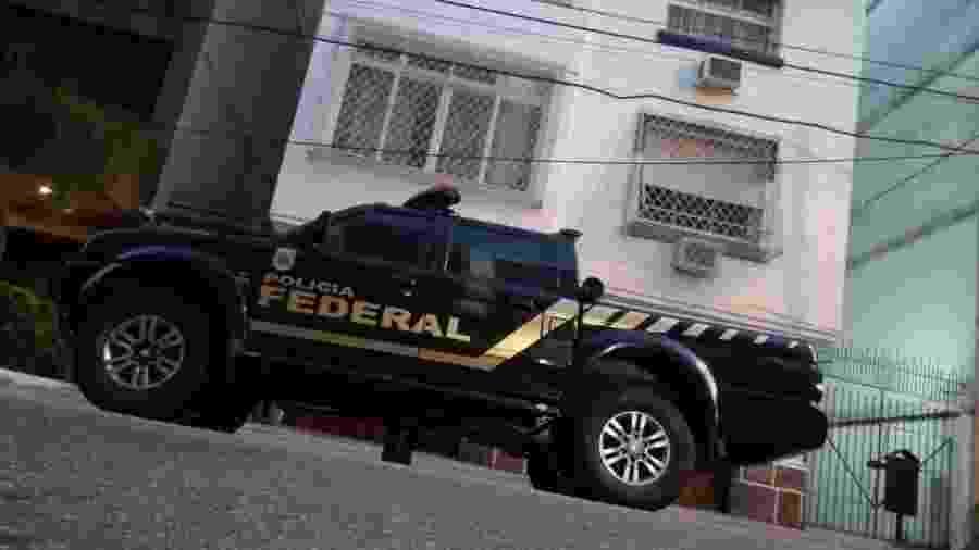 Carro da PF no bairro do Leblon, no Rio de Janeiro, onde agentes realizaram a operação Fiat Lux - Divulgação/Polícia Federal