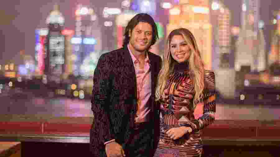 Hulk e a esposa, Camila - Reprodução/Instagram