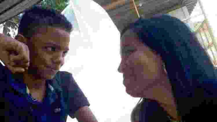 Guilherme com a mãe, Joyce da Silva dos Santos - Família Santos - Família Santos