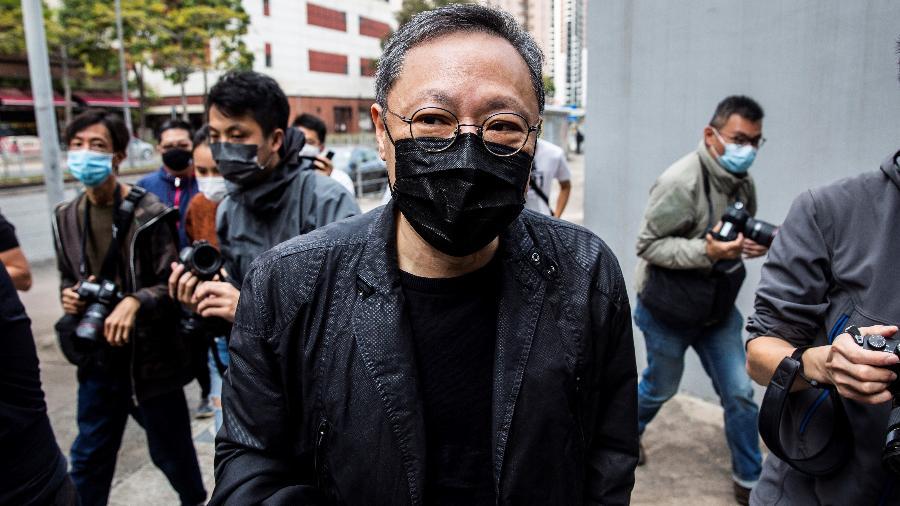 """O professor de direito e ativista pró-democracia Benny Tai é uma das 47 pessoas acusadas de """"subversão"""" em Hong Kong - Isaac Lawrence/AFP"""