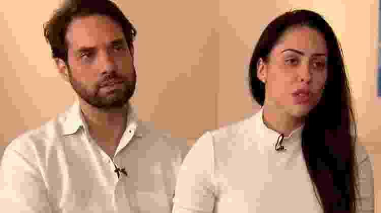 """Caso Henry: Jairinho e mãe de Henry concedem entrevista ao """"Domingo Espetacular"""" - Reprodução/TV Record - Reprodução/TV Record"""