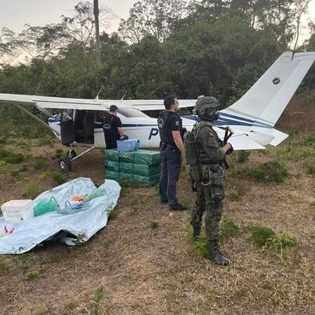 Avião que sobrevoava o céu de Rondônia foi abordado pela FAB - Divulgação PF-RO