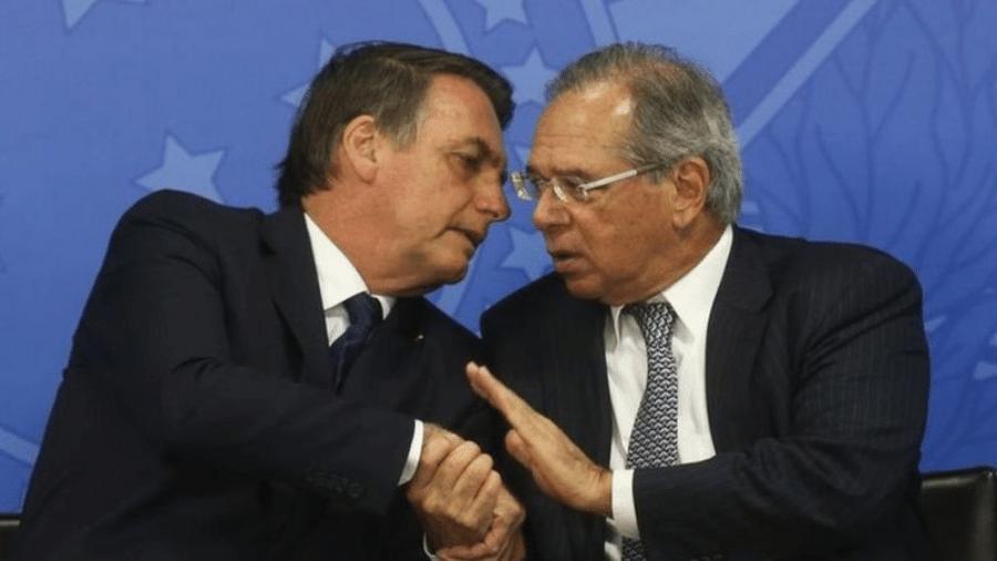 Jair Bolsonaro e Paulo Guedes: risco fiscal e crise entre poderes afugentam investidor - ANTONIO CRUZ/AGÊNCIA BRASIL