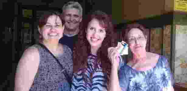 Maria Clara Lemos Santos com sua família no dia da matrícula na USP - Arquivo pessoal - Arquivo pessoal