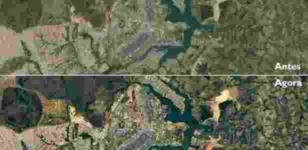 Mais nitidez nas imagens permite observar diferenças no crescimento dos bairros planejados e não planejados de Brasília - Google/Landsat