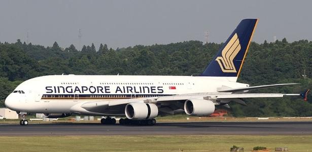 Um dos jatos A380 da Singapore Airlines - Reprodução
