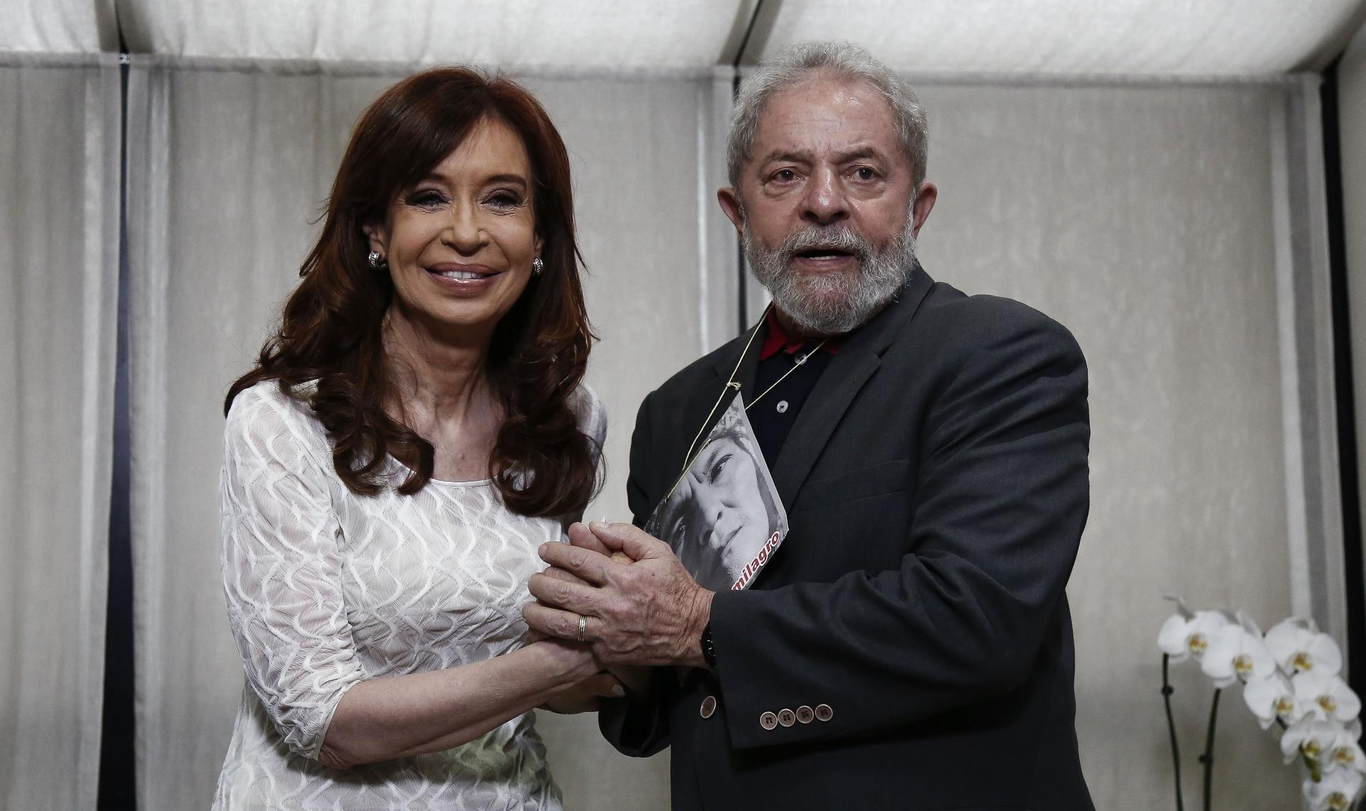 Resultado de imagem para Cristina Kirchner e lula