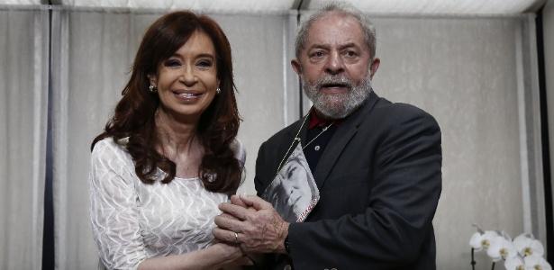 9.dez.2016 - Cristina Kirchner e Lula durante encontro em São Paulo - AFP PHOTO / Miguel SCHINCARIOL