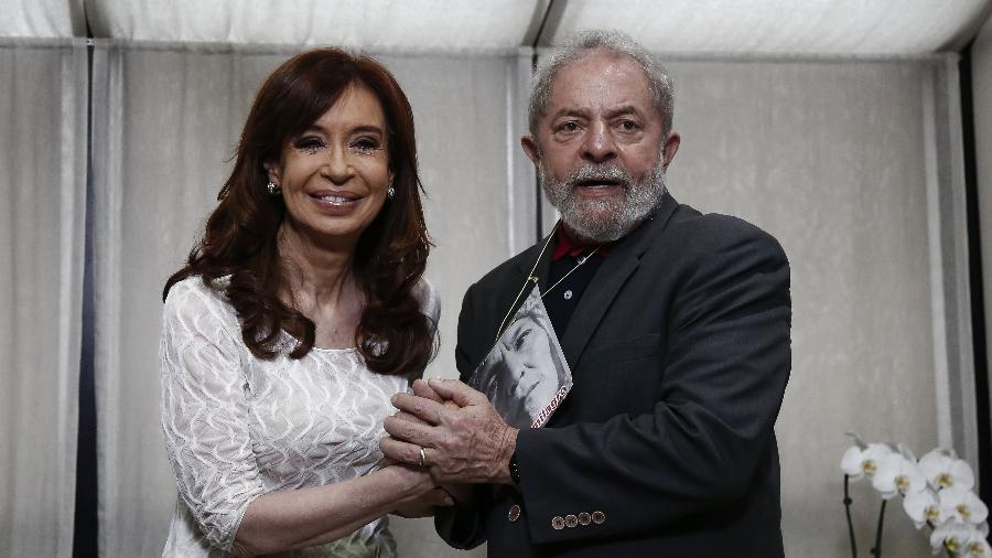 Cristina Kirchner e Lula durante encontro em São Paulo - Miguel Schincariol - 9.dez.2016