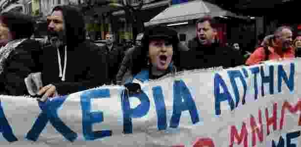 Gregos temem que lei restrinja o direito a greve - AFP - AFP