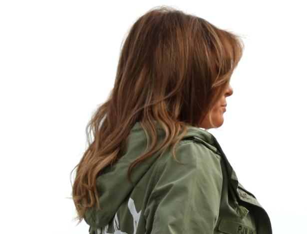 Melania Trump embarca para o México usando casaco controverso - Kevin Lamarque/Reuters