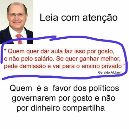 Imagem compartilhada no WhatsApp cita Geraldo Alckmin de forma enganosa - Reprodução/WhatsApp