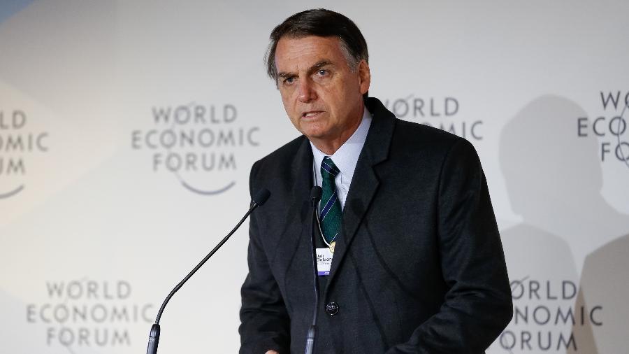 Presidente Jair Bolsonaro esteve na edição de 2019 do Fórum Econômico Mundial, em Davos, na Suíça. Passagem foi marcada por discurso curto - Alan Santos/PR