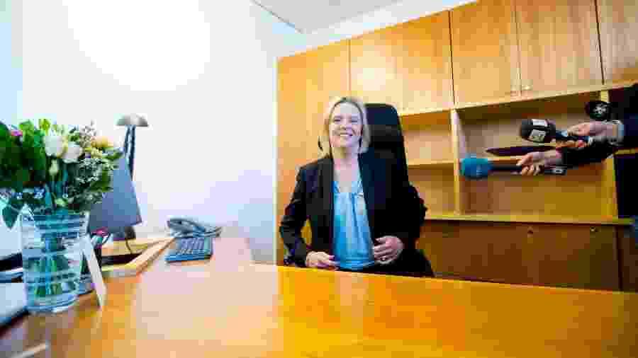 Sylvi Listhaug foi nomeada ministra de Saúde Pública e Idosos na semana passada - NTB scanpix/Stian Lysberg Solum/Reuters