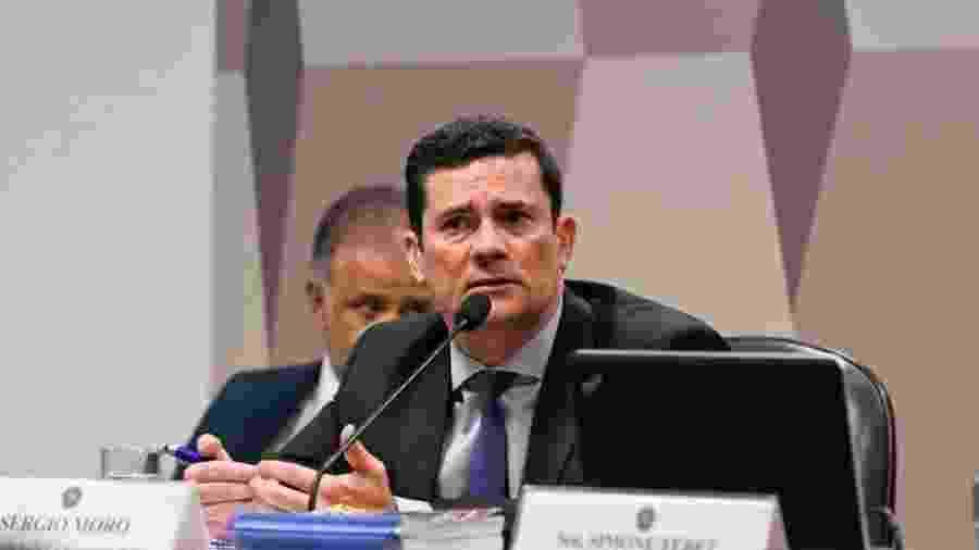 O ministro da Justiça e Segurança Pública, Sergio Moro, durante audiência no Senado - Andre Shalders