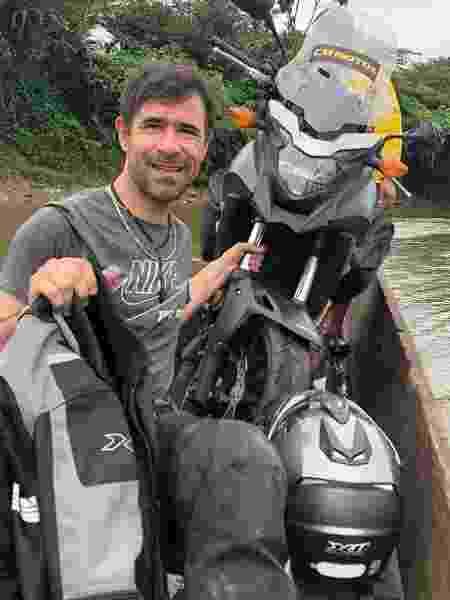 Brasileiros que viajam de moto enfrentaram trilhas e pedágios no Equador  - Arquivo pessoal - Arquivo pessoal