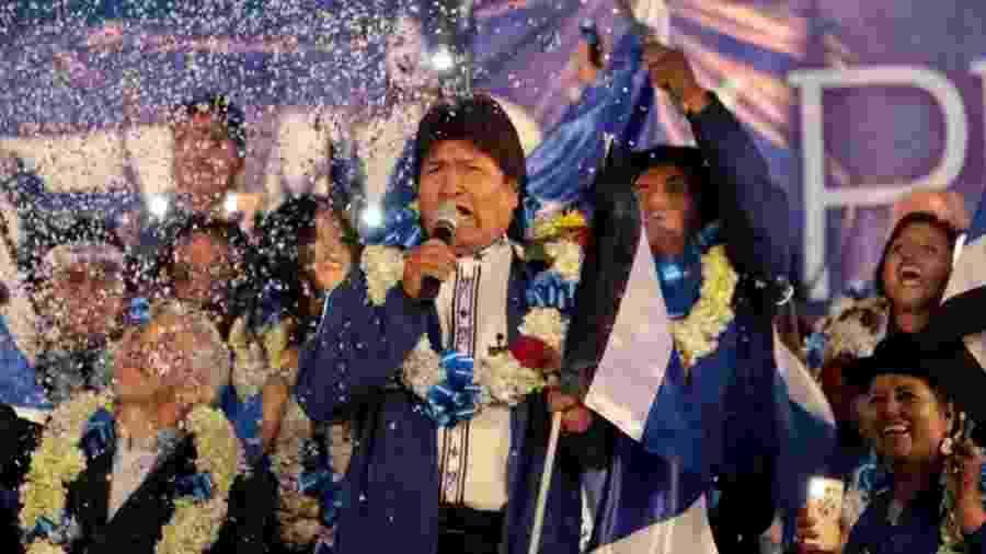 Evo Morales tenta se reeleger para o quarto mandato em meio a polêmica em torno das manobras que fez para se manter no poder - Manuel Claure/REUTERS