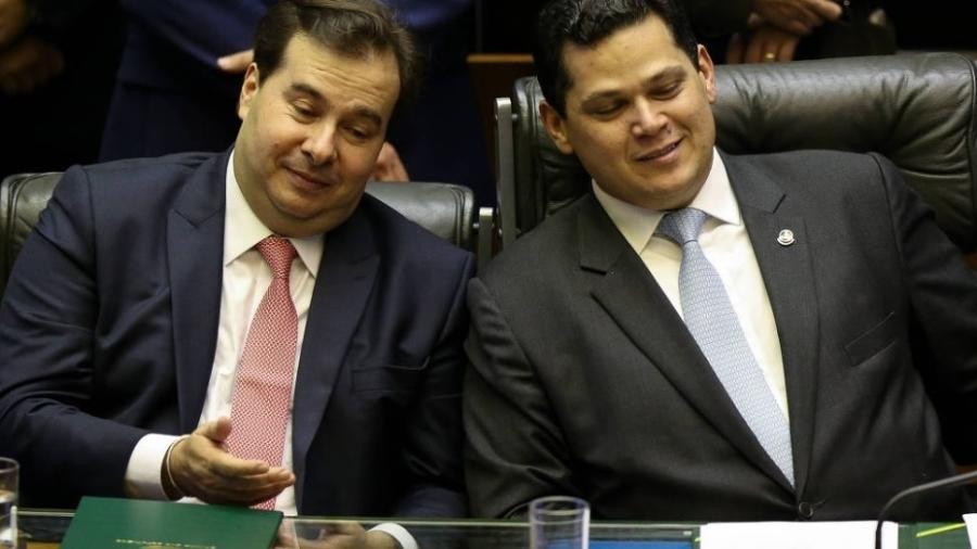 Rodrigo Maia e Davi Alcolumbre desejaram sucesso para os novos gestores dos Estados Unidos que tomam posse hoje - Pedro Ladeira - 4.fev.2019/Folhapress