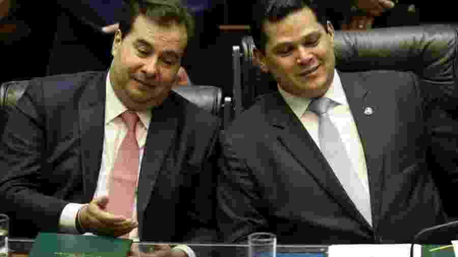 O presidente da Câmara, Rodrigo Maia, e do Senado, Davi Alcolumbre - Pedro Ladeira - 4.fev.2019/Folhapress