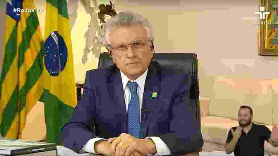 O governador de Goiás, Ronaldo Caiado, fez pedido aos prefeitos do estado para seguirem estudos da UFG - Reprodução/YouTube