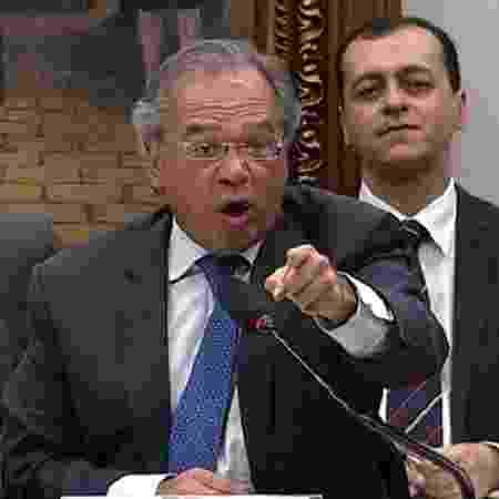Paulo Guedes durante depoimento na Câmara - Reprodução/TV Câmara