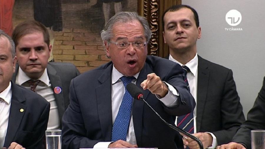 """Ministro da Economia afirmou que """"o Brasil quebrou"""" por causa da política de gastos públicos dos governos do PT - Reprodução/TV Câmara"""