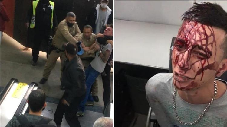 """Rapaz publicou imagens no Facebook: """"me bateram algemado"""" - Reprodução/Ponte Jornalismo - Reprodução/Ponte Jornalismo"""