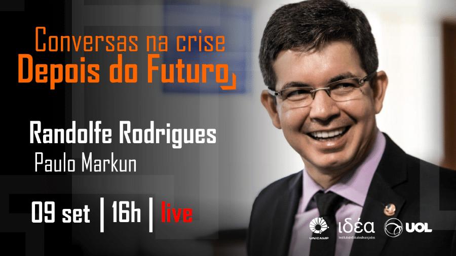 Randolfe Rodrigues no Conversas na Crise (09.09.20) - Arte/IdEA-Unicamp