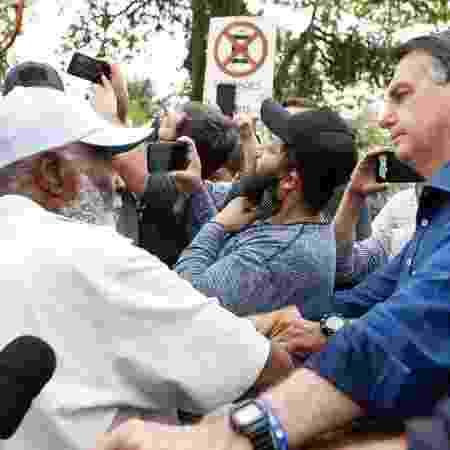 Presidente Jair Bolsonaro, ao sair do Palácio da Alvorada, neste sábado, dia 28 - Carolina Antunes/PR