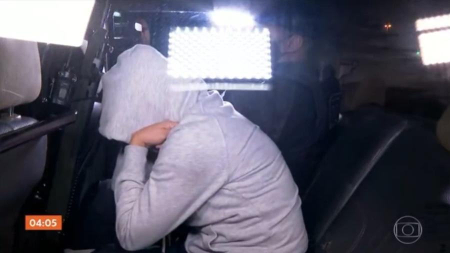 Casal suspeito de envolvimento no assalto a banco em Criciúma foi preso em Campinas (SP) - Reprodução/TV Globo