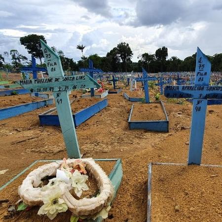 Cemitério Parque em Manaus, lotado por mortes devido à covid-19; cientistas fizeram alerta à comunidade internacional  - Carlos Madeiro/UOL
