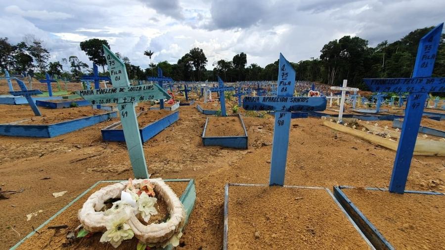 Cemitério Parque em Manaus, lotado por mortes devido à covid-19 - Carlos Madeiro/UOL