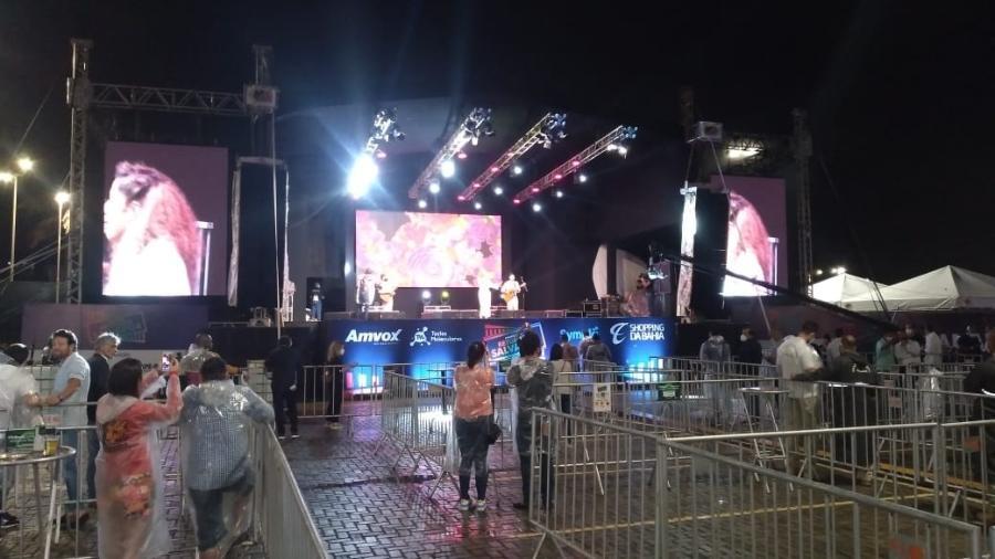 27.ago.2021 - Primeiro evento teste em Salvador tem shows esvaziados e não testa nada em relação ao Carnaval - André Santana
