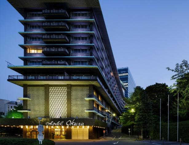 A ala principal do Hotel Okura, construído em 1962, em Tóquio, no Japão