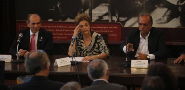 A presidente Dilma Rousseff participava de agenda no Rio quando foi divulgada a informação sobre o pedido de prisão de Lula