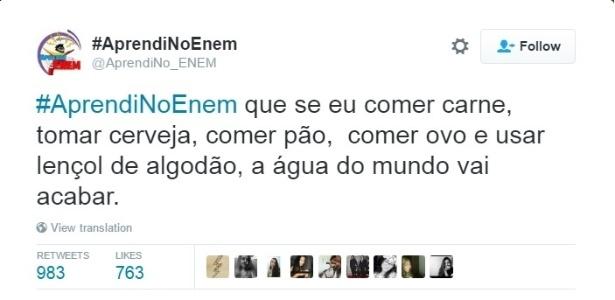 #AprendiNoEnem - Reprodução/ Twitter