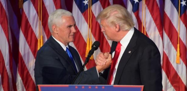 Donald Trump e seu vice-presidente, Mike Pence