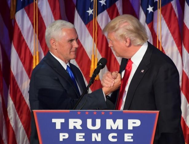 Mike Pence (na foto, com Trump) fez o anúncio a congressistas republicanos no Capitólio