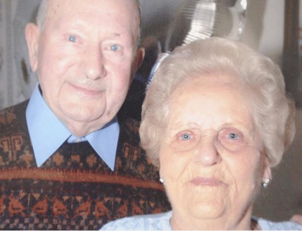 Joyce e Frank Dodd chegaram a 77 anos de casados