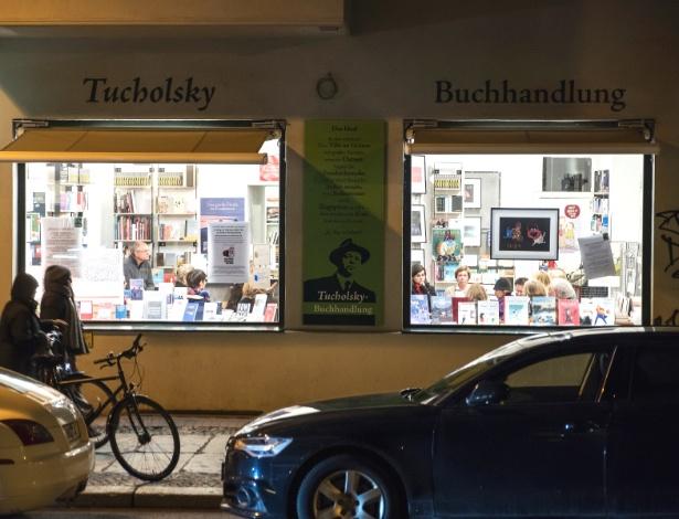 A livraria Tucholsky, em Berlim, se tornou ponto de encontro de discussões políticas