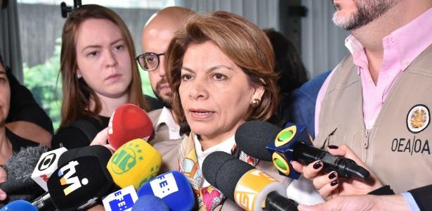 Ex-presidente da Costa Rica e chefe de missão da OEA na eleição brasileira, Laura Chinchilla